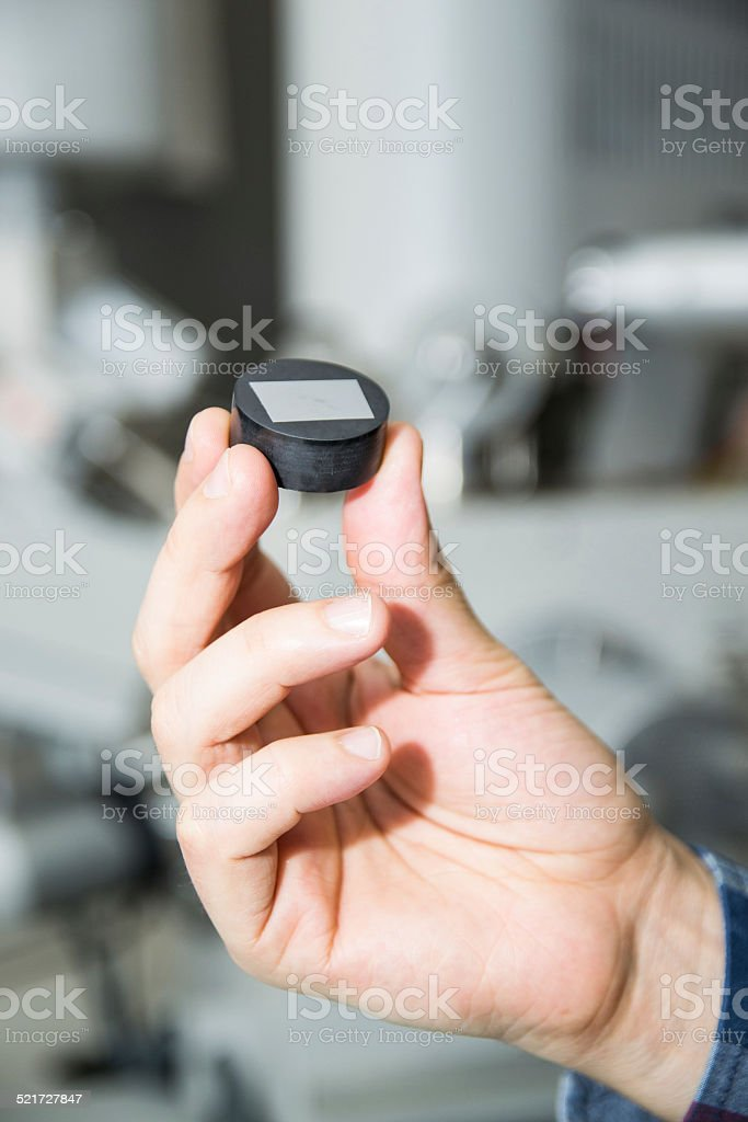 Microscopio electrónico escaneador muestra - foto de stock