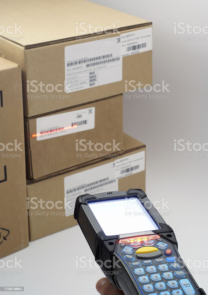 Scanning in progress royalty-free stock photo