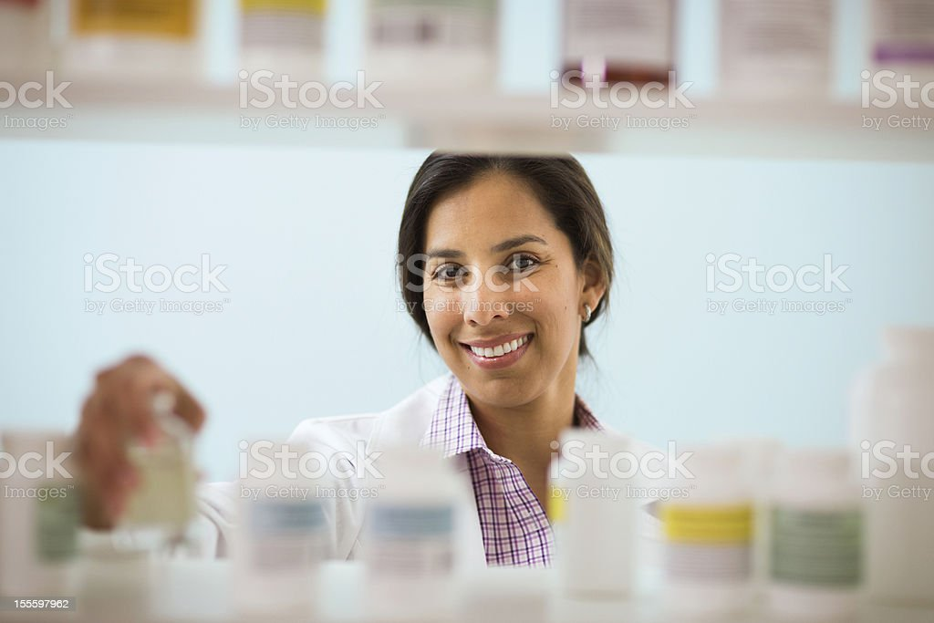 Scanning Medical Supplies royalty-free stock photo