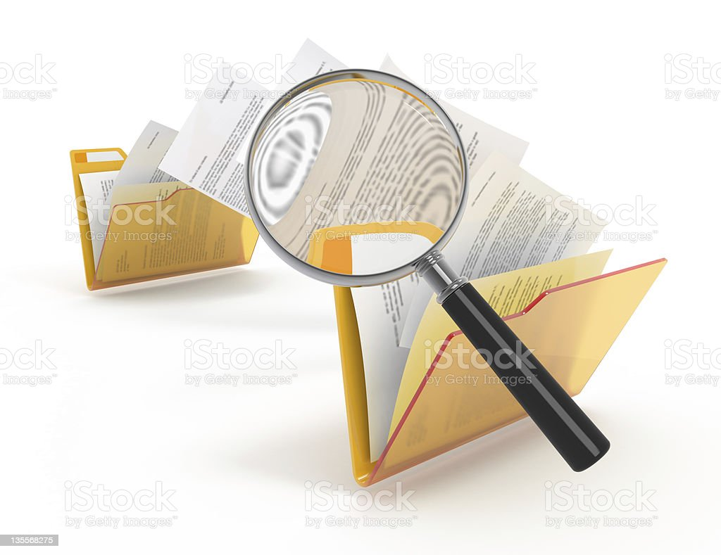 Scanning of transferring files. royalty-free stock photo