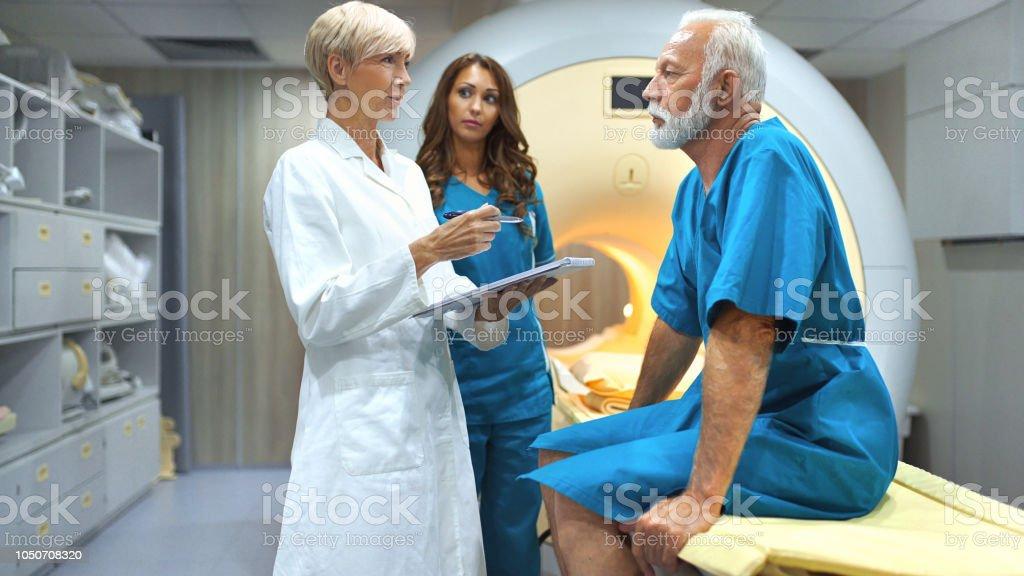 MRI scanning procedure. stock photo