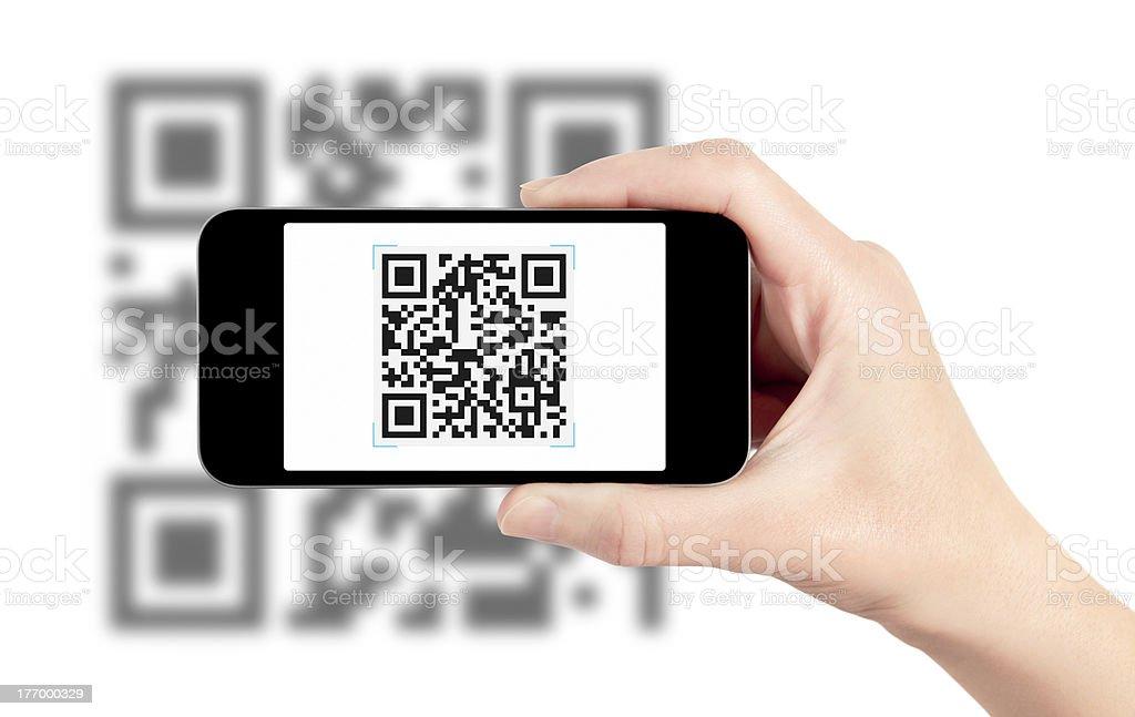 Scannen QR-Code mit dem Handy – Foto