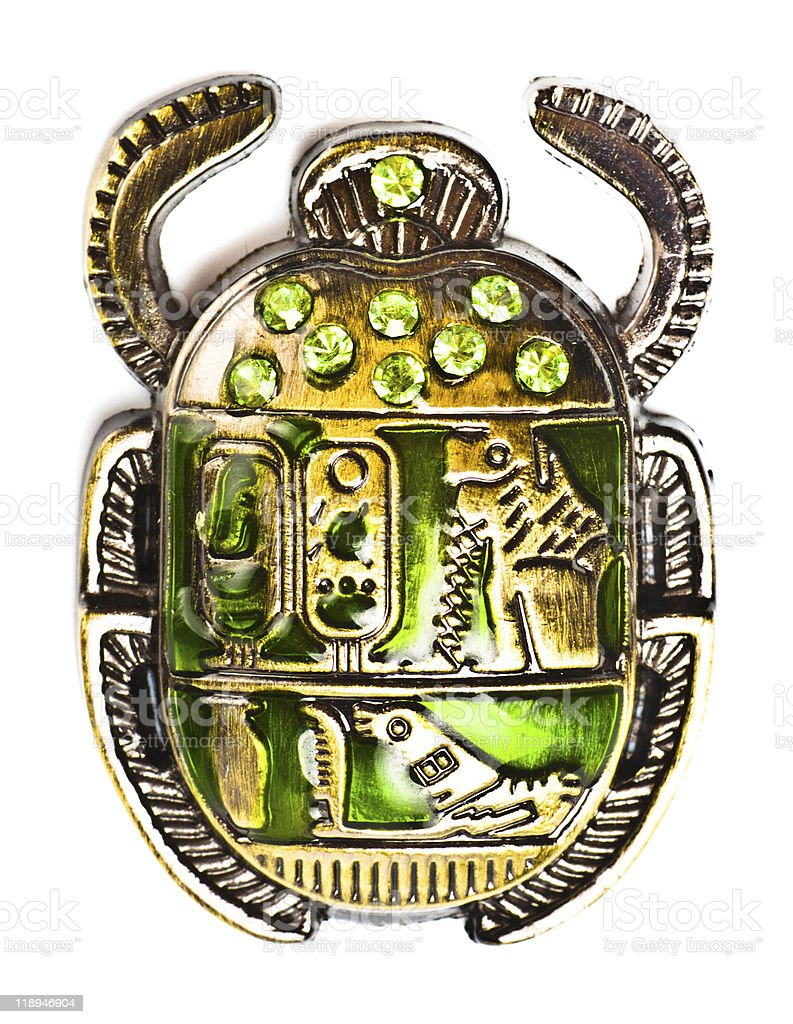 scarab with gems stock photo