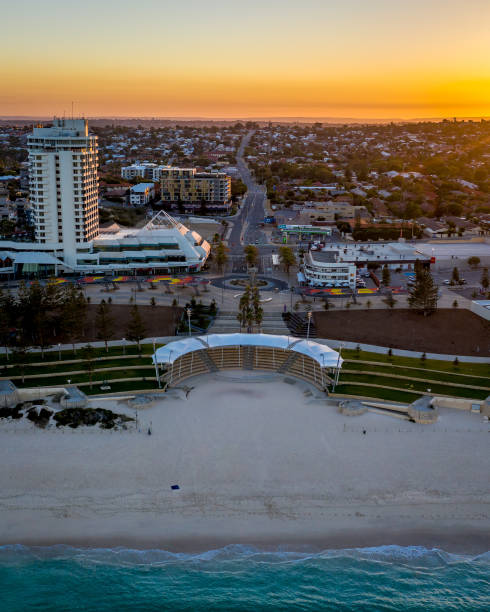 Scarborough Beach Sunrise Aerial – zdjęcie
