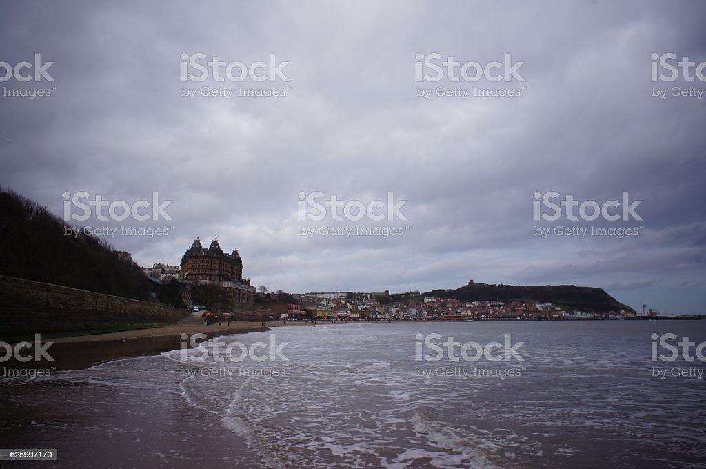 Scarborough beach view stock photo