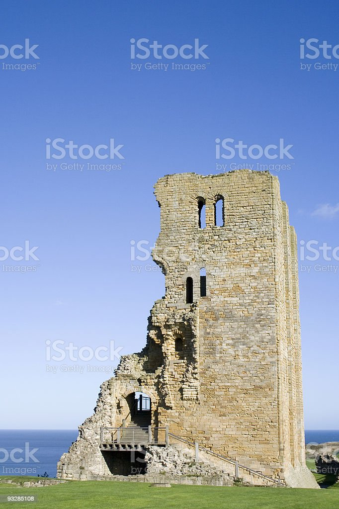 Scarborough Castle stock photo