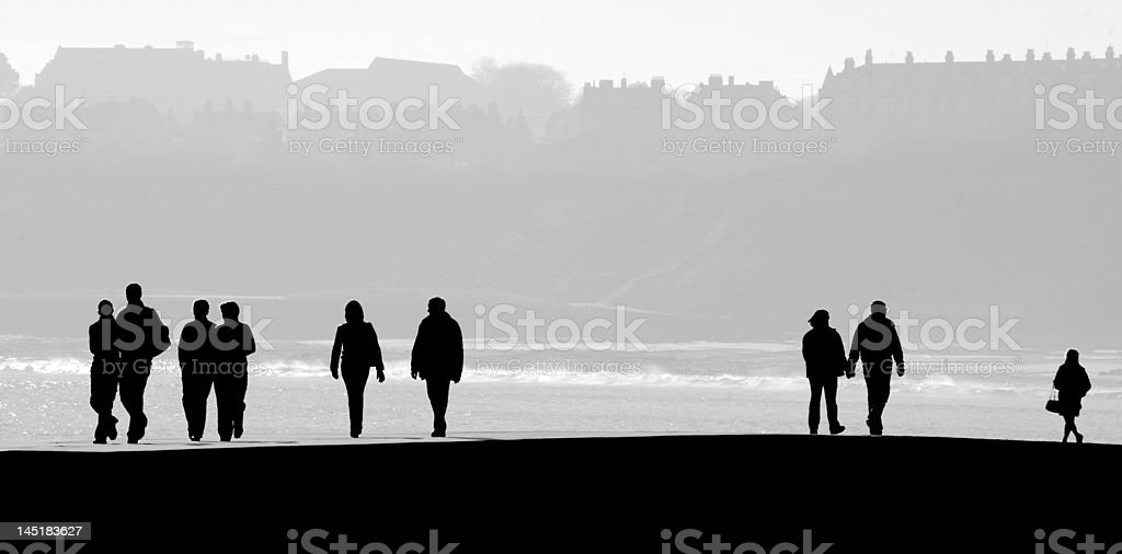 Scarborough people silhouette royalty-free stock photo