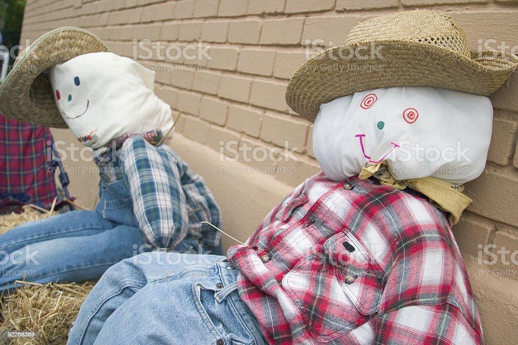 Scarecrow Couple royalty-free stock photo