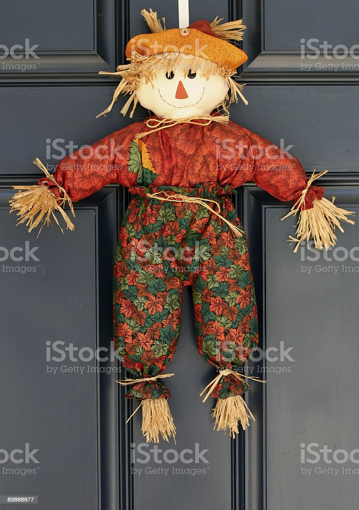 scarecrow door wreath royalty-free stock photo