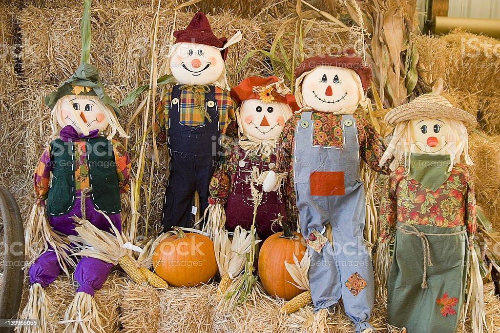 scarecrow family stock photo
