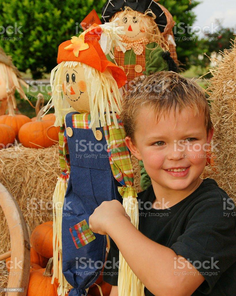 Scarecrow Fun stock photo