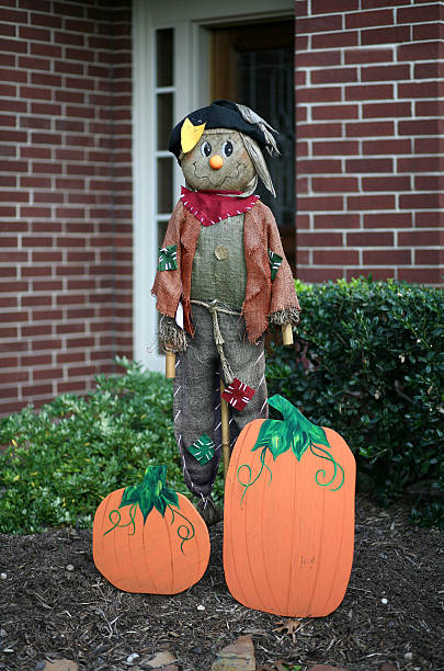 Scarecrow standing guard  bunnylady stock pictures, royalty-free photos & images