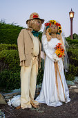 Scarecrows watching over the California Coastline