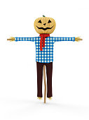 istock Scarecrows isolated on white background 534137645