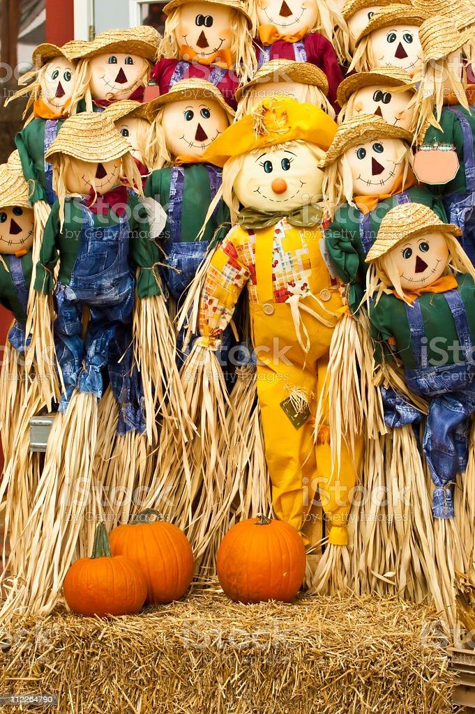 Scarecrows royalty-free stock photo