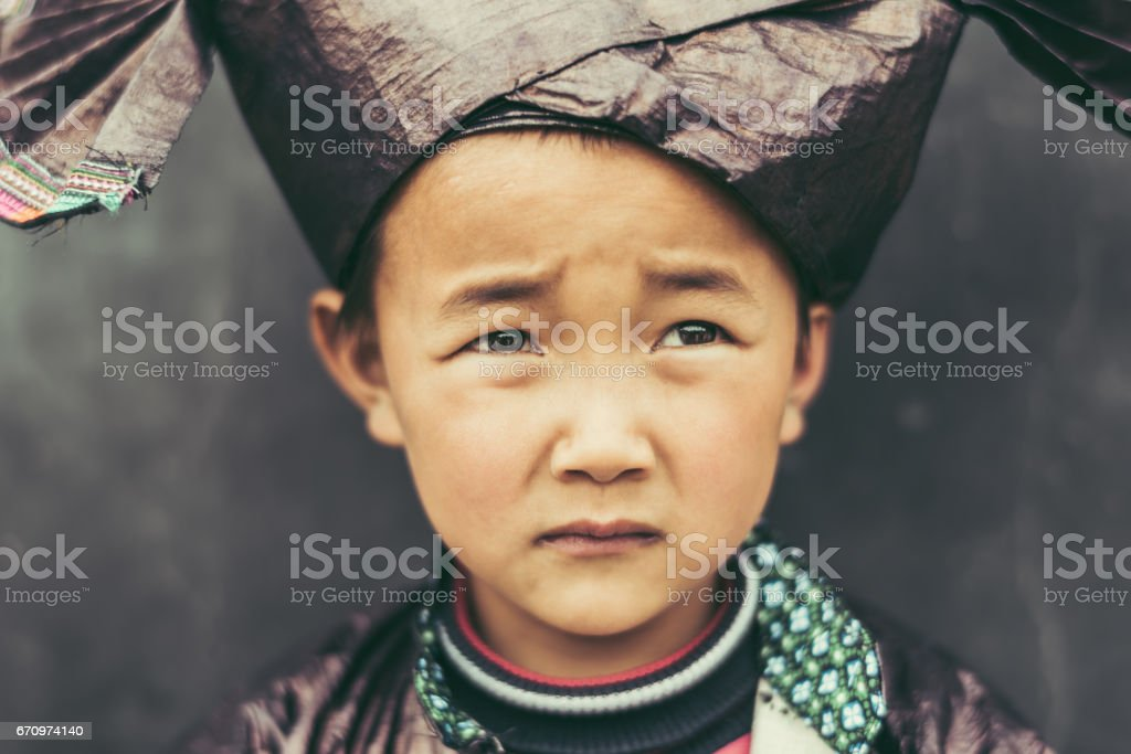 Scared and Sad Looking Chinese Chinese Boy Real People Portrait stock photo