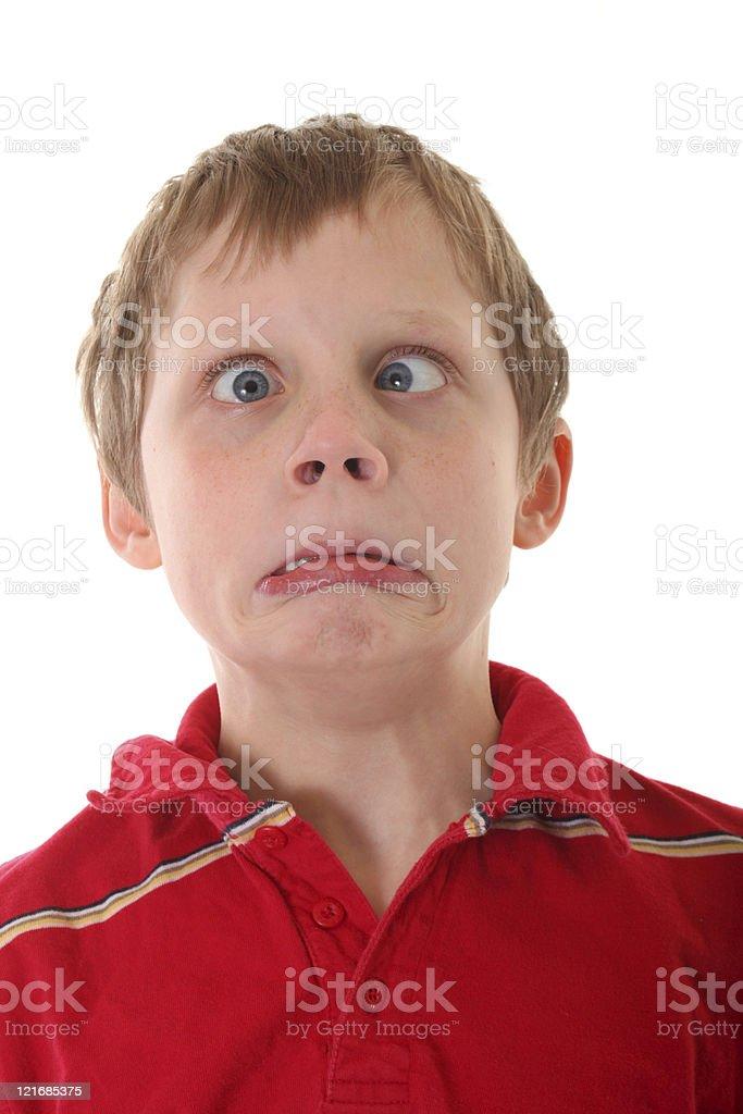 scared boy royalty-free stock photo