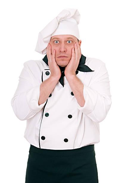 paura chef - chef triste foto e immagini stock