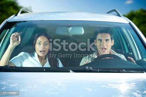 istock Scared Couple In The Car 171155827