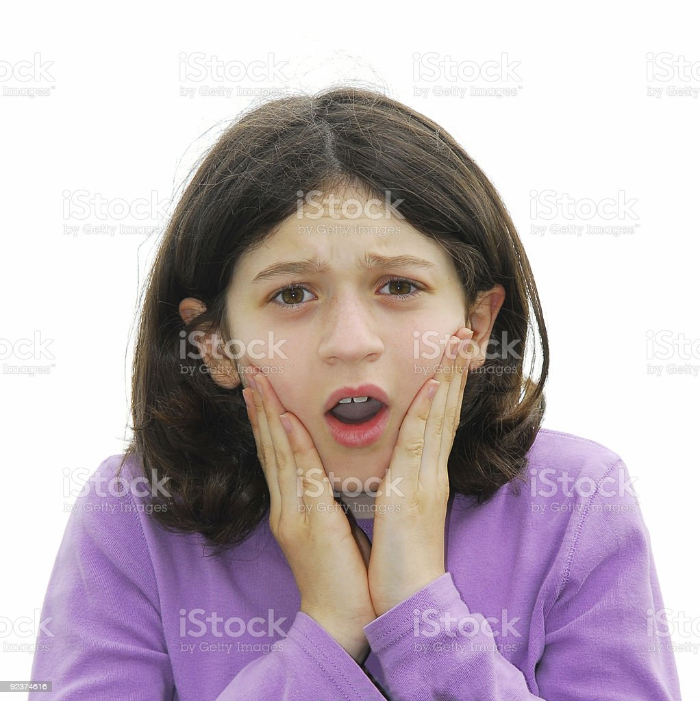 Scared girl royalty-free stock photo