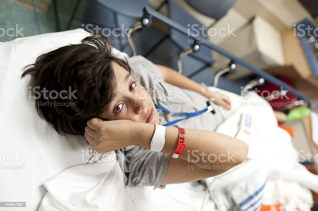 Scared Injured Child royalty-free stock photo