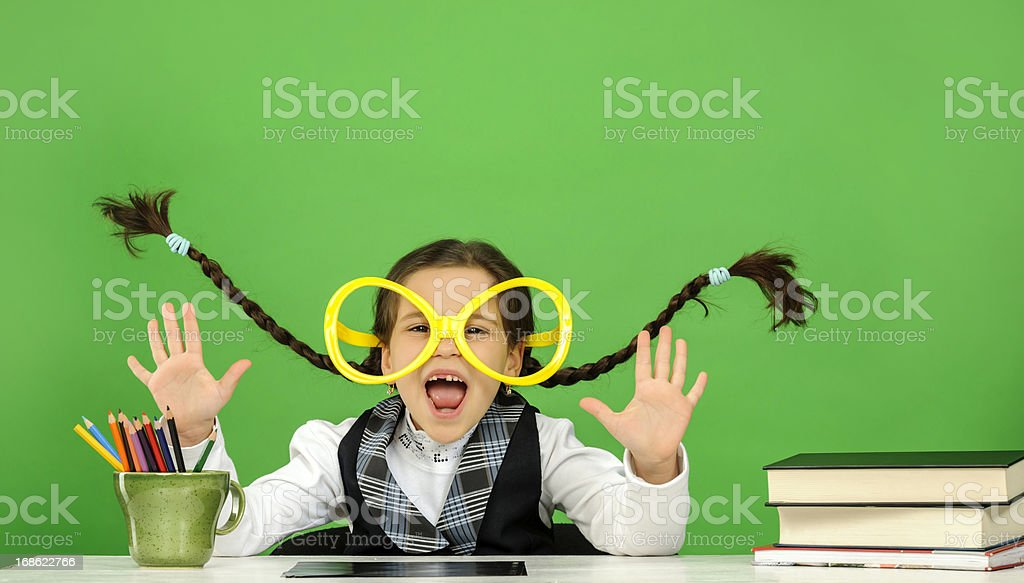 scared little girl royalty-free stock photo