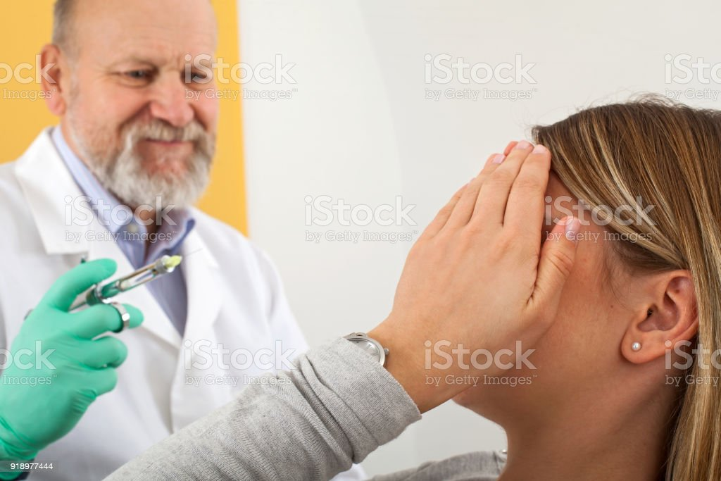 Scared Patient Before Dental Anesthesia Stock Photo - Download Image Now