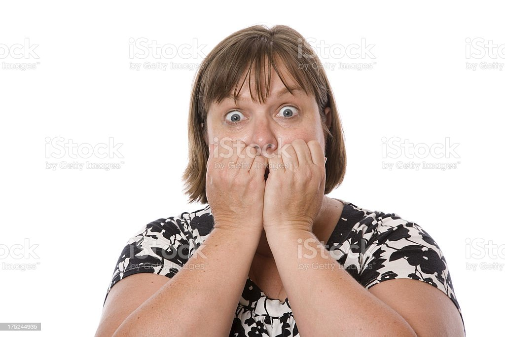 Scared Person royalty-free stock photo
