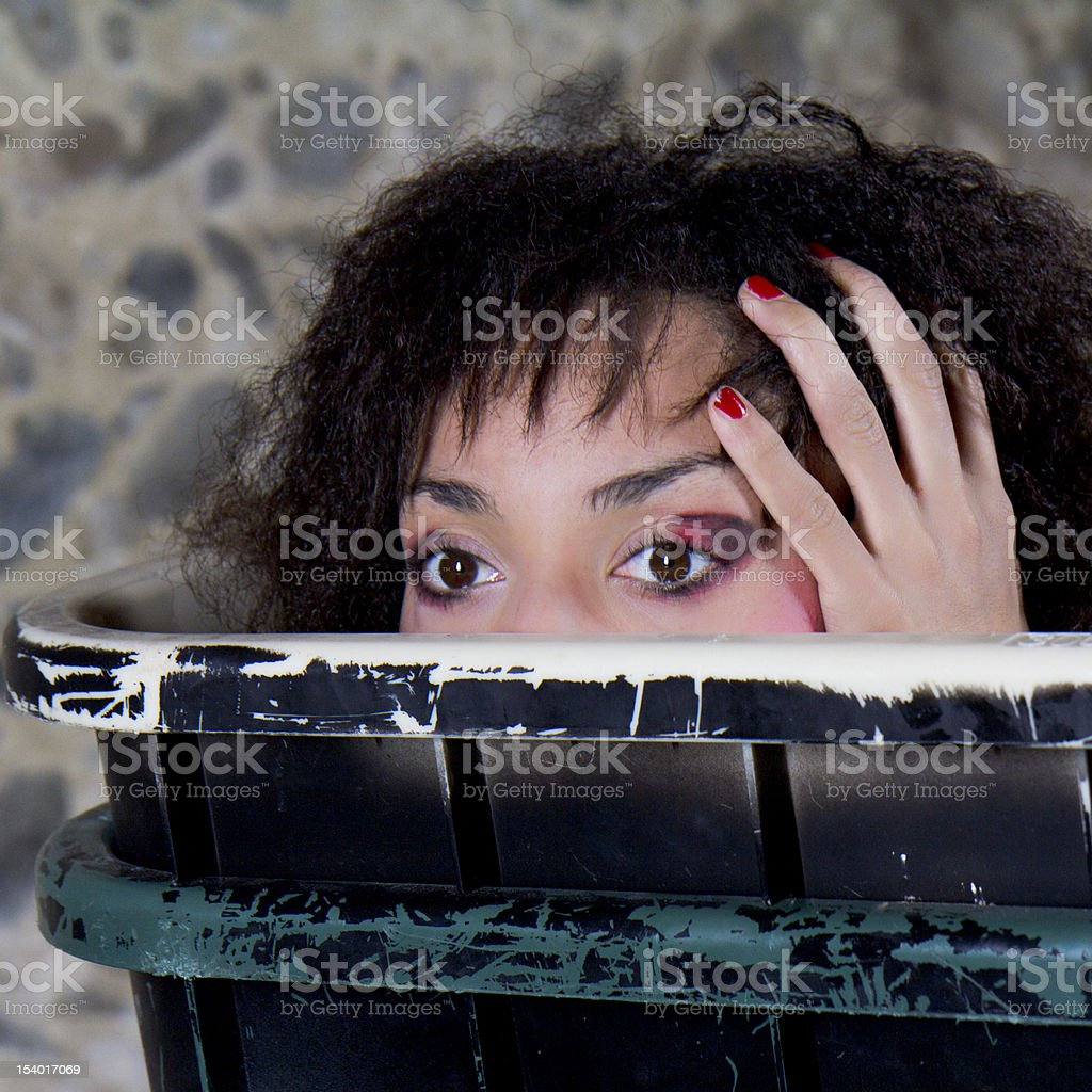 Scared woman. royalty-free stock photo