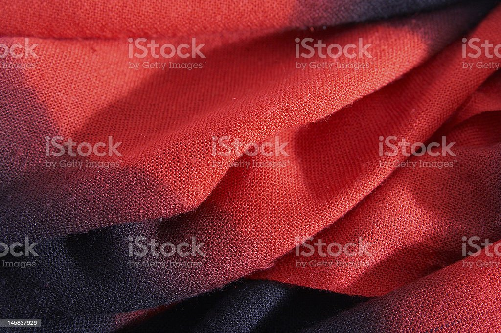 Scarf From Wool Red Black Color Laying Soft Folds Stock Photo Download Image Now Istock