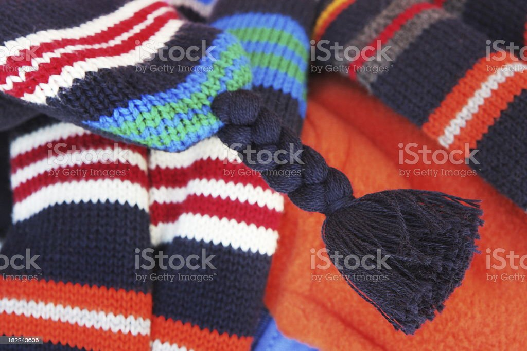 Scarf Hat Fleece Clothing Fashion stock photo