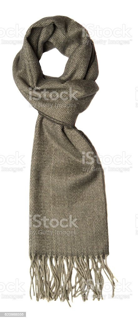 Scarf isolated on white background. scraf top view foto royalty-free