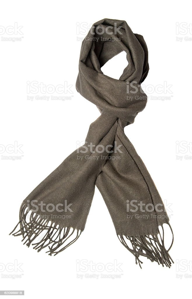 Scarf isolated on white background.gray scarf . scraf top view foto royalty-free