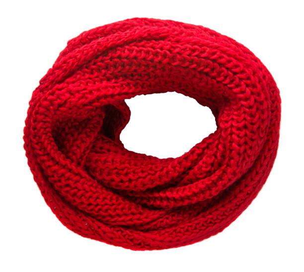 scarf isolated on white background.scarf  top view .red scarf - wollschal stock-fotos und bilder