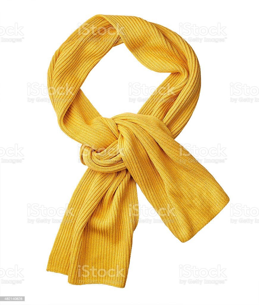 scarf isolated on white. with a clipping path stock photo