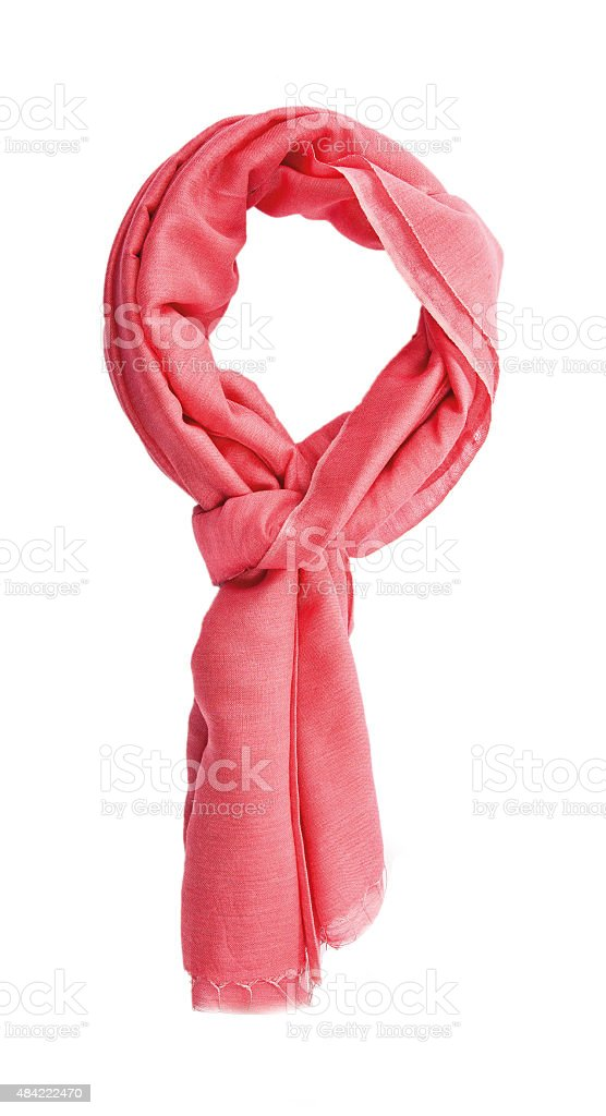 scarf isolated stock photo