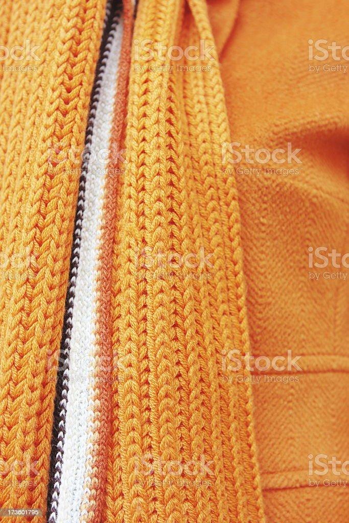 Scarf Jacket Fashion Knit Herringbone royalty-free stock photo