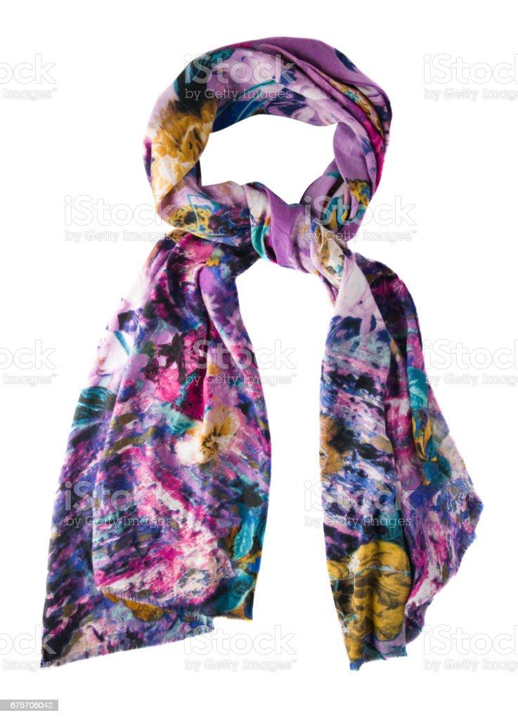 夏天的圍巾。多彩多姿的圍巾。圍巾頂視圖 免版稅 stock photo