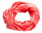 スカーフ夏。色とりどりのスカーフ。スカーフ平面図