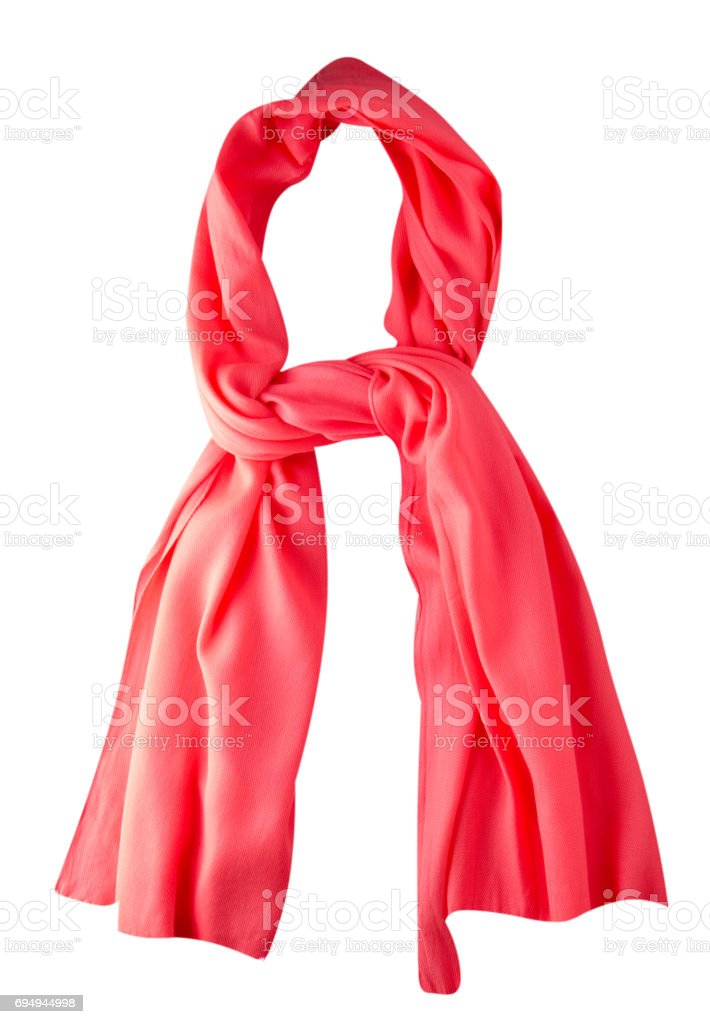 scarf summer. multicolored scarf. Scarf top view    .Red scarf - foto stock