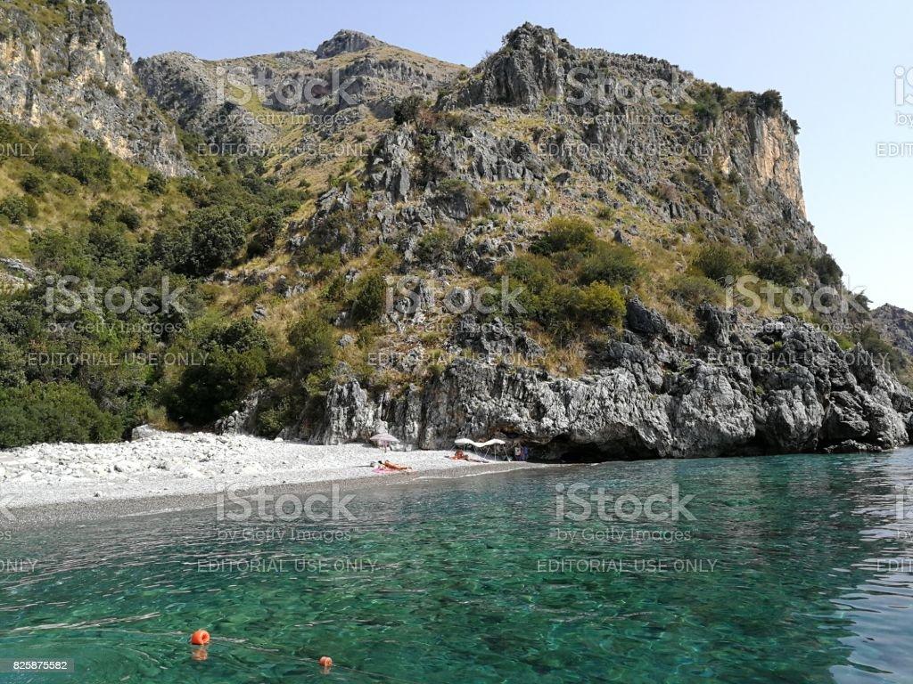 Scario - Spiaggia del Valloncello stock photo