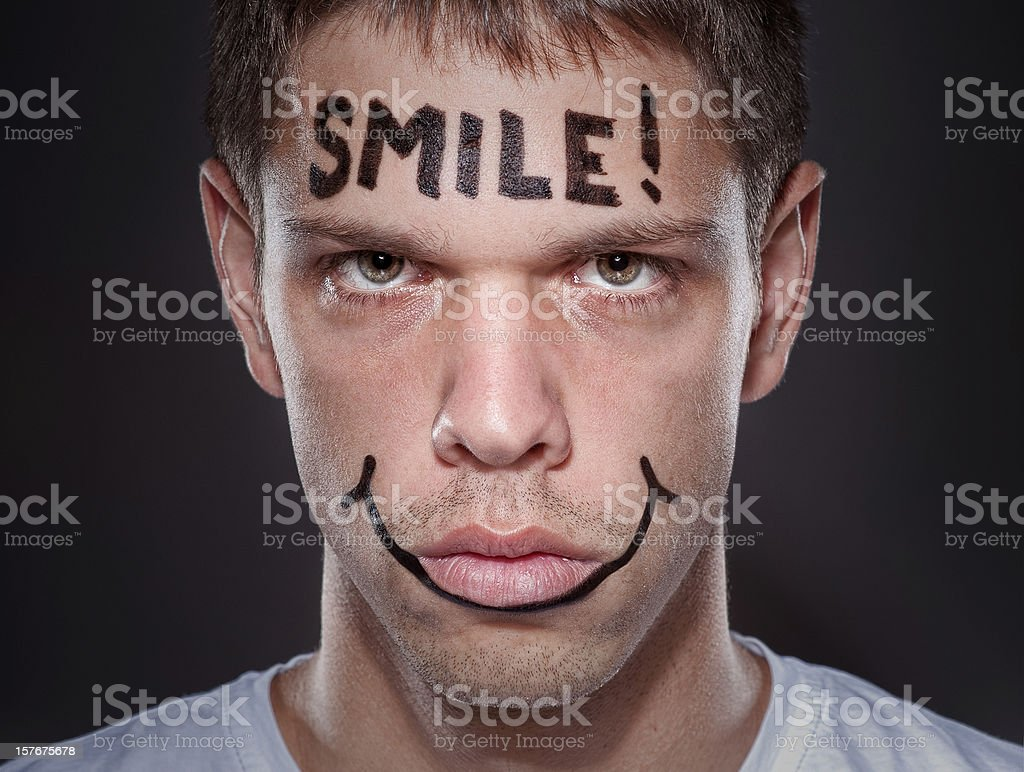 Scarry smile? royalty-free stock photo
