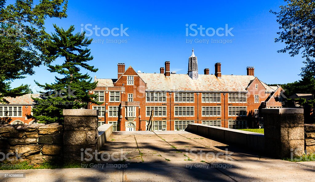 Scarsdale High School, Westchester County, New York State, USA stock photo