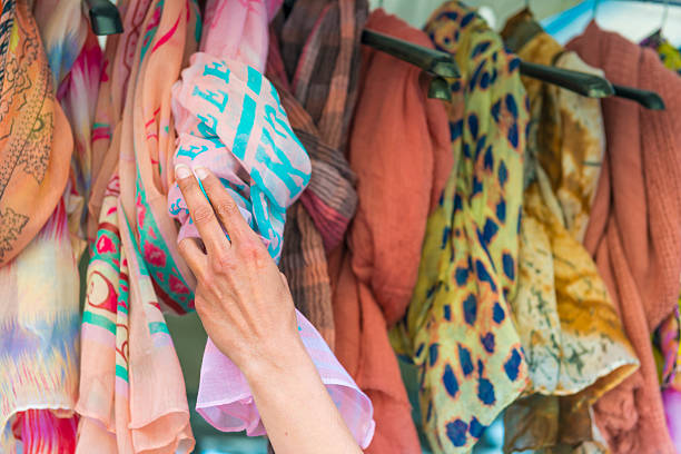 Scarves stock photo