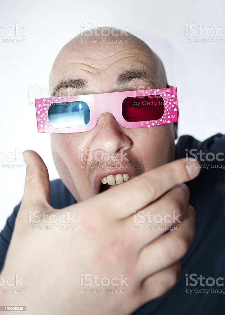 Scary 3D Movie royalty-free stock photo