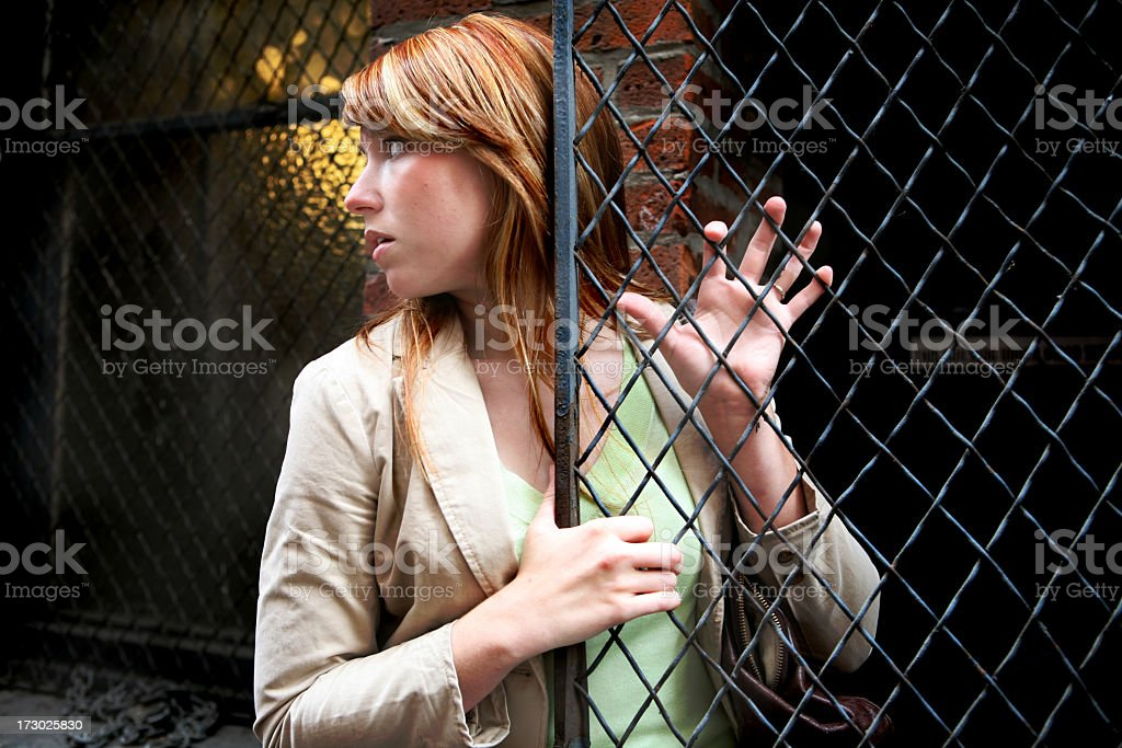 Scary Alley royalty-free stock photo