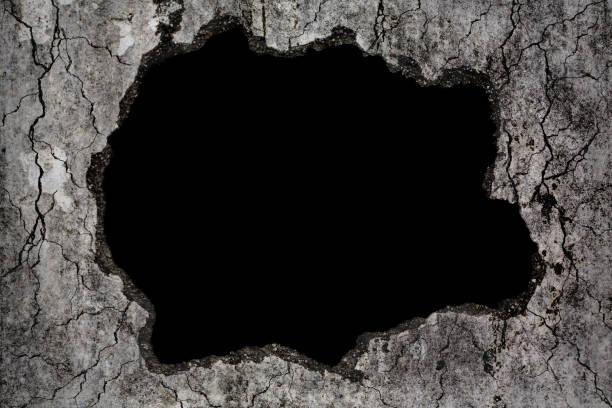 Beängstigend Hintergrund beschädigt Grunge Riss und gebrochenen Betonwand, Konzept der Horror und Halloween – Foto