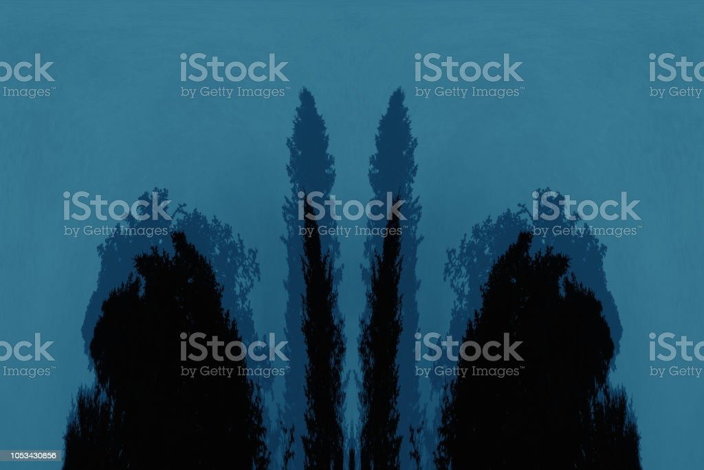 Scary Background With Ghost In Dark Night Tones Night