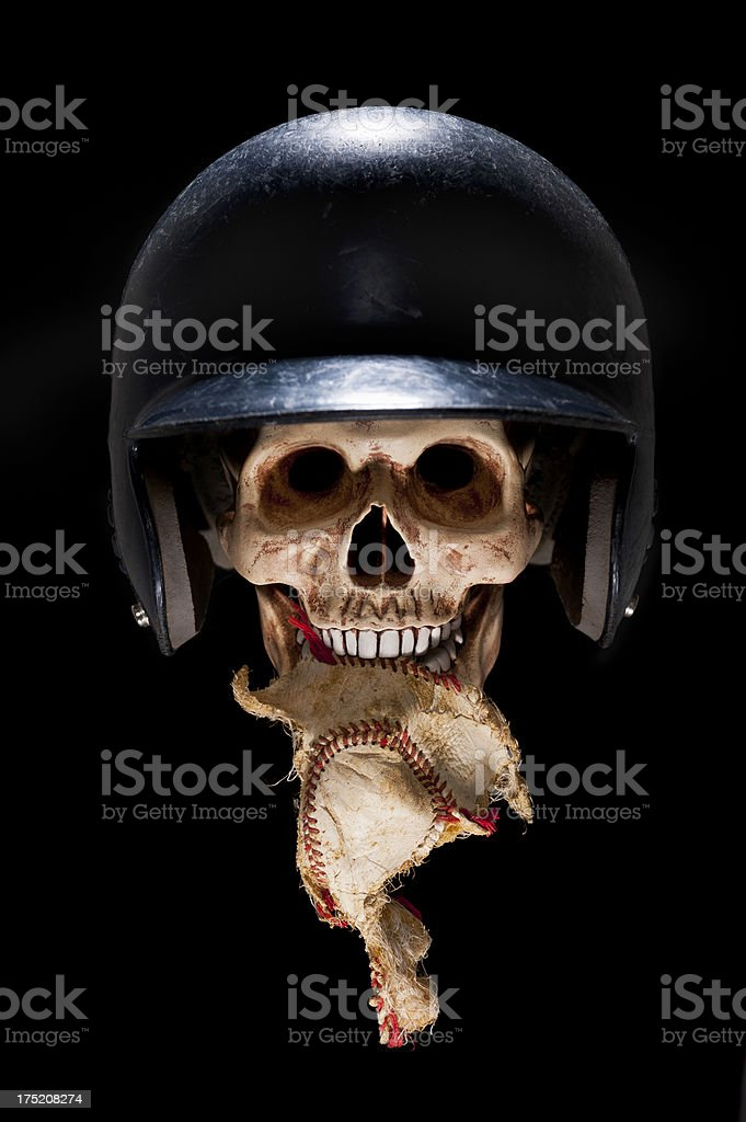 Scary Baseball Player stock photo
