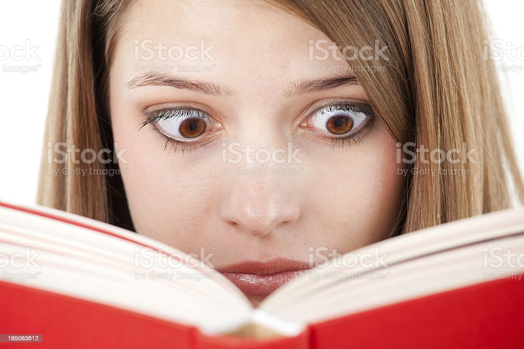 Scary book stock photo